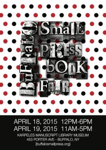 Come join us this April at the Buffalo Small Press Book Fair!